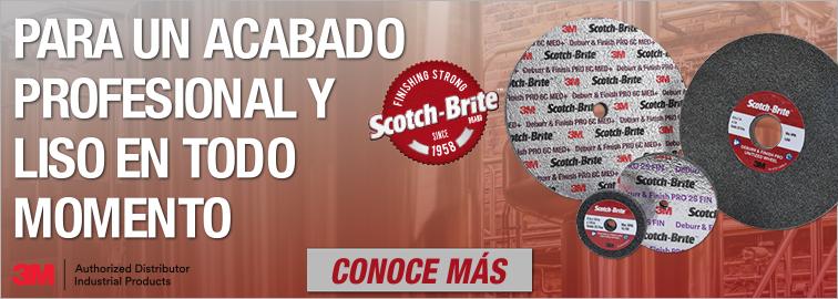 3M Scotch-Brite Ruedas unificadas para desbarbado y acabado PRO 2S