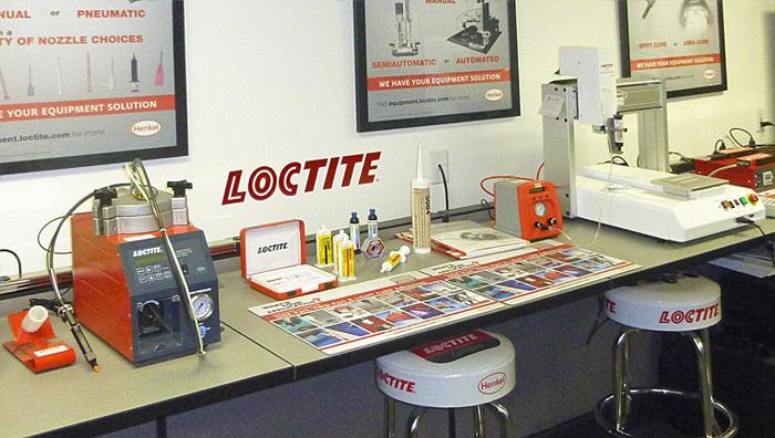 Salas de muestras de R.S. Hughes / Loctite