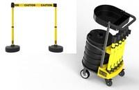 Estacas de banner Plus Amarillo Juego de barreras con carrito - BANNER STAKES PL4001T
