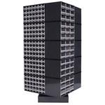 Akro-mils 19 1000 lb Gris Acero Bastidor de almacenamiento redondo - longitud total 31 pulg. - Ancho 31 pulg. - Altura 60 pulg. - 98325