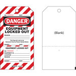 Brady CLT2 Negro/Rojo sobre blanco Cartulina Etiqueta de bloqueo/etiquetado - Ancho 4 pulg. - Altura 7 1/2 pulg. - B-853