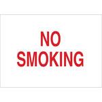 Brady B-302 Poliéster Rectángulo Letrero de no fumar Blanco - 5 pulg. Ancho x 3.5 pulg. Altura - Laminado - 89176