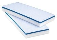 3M Scotch-Brite Blanco/azul Almohadilla de borrado fácil - longitud total 10 pulg. - Ancho 4.625 pulg. - 59154
