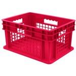 Akro-mils 5.12 gal Rojo Polímero de grado industrial Contenedor de pared recta - longitud 15 3/4 in - Ancho 11 3/4 in - Altura 8 1/4 in - Pared lateral Malla - capacidad apilada 83 lb 30 lb - 37278 RE