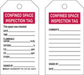 Brady 50275 Negro/Rojo sobre blanco Poliéster/papel Etiqueta para espacio restringido - Ancho 3 pulg. - Altura 5 3/4 pulg. - B-837