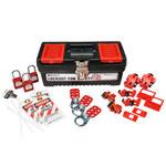 Brady Rojo sobre negro Kit de bloqueo/etiquetado - 754476-03481