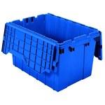 Akro-mils Keepbox 12 gal 65 lb Azul Polímero de grado industrial Contenedor de tapa adjunto - longitud 21 1/2 pulg. - Ancho 15 pulg. - Altura 12 1/2 pulg. - 39120 BLUE