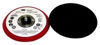 3M Hookit 20352 Duro Rojo Almohadilla de disco - 5 in diámetro - 3/8 in Grosor - Externo Rosca para Accesorio