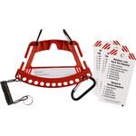 Brady 148866 RED Cerradura de seguridad y portador de la etiqueta - Ancho 7.75 pulg. - Altura 5.75 pulg. - LOTO-88