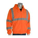 PIP 323-HSSEOR Naranja Poliéster Camisa de alta visibilidad - Sudadera - Grado ANSI clase 3 - Para tamaño del pecho 49.6 pulg. - Longitud 28.3 pulg. - 616314-89626