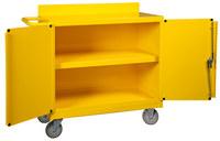 Brady Amarillo Acero Carrito de almacenamiento para absorbentes 121631 - Ancho 18 pulg. - Longitud 38 3/8 pulg. - Altura 36 pulg. - 662706-89837