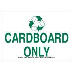 Brady B-555 Aluminio Rectángulo Letrero de reciclaje Blanco - 10 pulg. Ancho x 7 pulg. Altura - 129345
