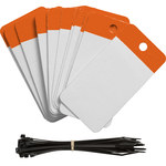Brady 102014 Naranja Poliéster Etiqueta en blanco para marcar cables - Altura 5 pulg. - 01103