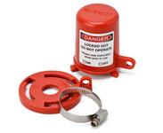 Brady Rojo Polipropileno Bloqueo de válvula de tapón 113231 - 754473-17664