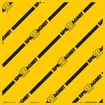 Brady Spill Magnet Negro sobre amarillo Cubierta de drenaje - Ancho 24 pulgada x 24 pulgadas - 754473-94688