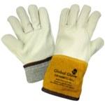 Global Glove CR100MTC Blanco Grande Cuero Grano Cuero vacuno Cuero Guante para soldadura - CR100MTC LG