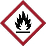 Brady 121189 Rojo/blanco/negro Diamante Poliéster Etiqueta de peligro de incendio - Altura 4 pulg. - B-7541