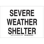 Brady B-401 Poliestireno Rectángulo Cartel de refugio para tornado y clima severo Blanco - 10 pulg. Ancho x 7 pulg. Altura - 132184