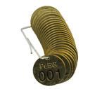 Brady 23260 Negro sobre cobre Círculo Latón Etiqueta para válvula numerada con encabezado - Ancho 1 1/2''de diámetro - Imprimir números = 1 a 25 - B-907