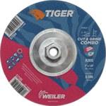Weiler TIGER Óxido de aluminio Disco de corte y esmerilado - Diámetro 7 in - Grosor 1/8 in - 57104