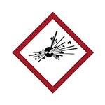 Brady 121188 Rojo/blanco/negro Diamante Poliéster Etiqueta de peligro de incendio - Altura 1.5 pulg. - B-7541