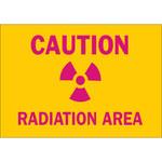 Brady B-302 Poliéster Rectángulo Cartel de peligro de radiación Amarillo - 10 pulg. Ancho x 7 pulg. Altura - Laminado - 88741