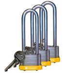 Brady Amarillo Acero 5 pernos Candado de seguridad con llave 123255 - Ancho 1 5/16 pulg. - Altura 1 1/5 pulg. - Número de llaves incluidas 1 - 754473-72007