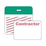 Brady Securalert Verde Etiqueta de identificación - longitud total 3 pulg. - Ancho 3 pulg. - 95656