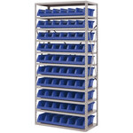 Akro-mils Azul Gris Acero 22 ga Sistema de estantería de bandeja de sistema - 10 gavetas - AS1879318 BLUE