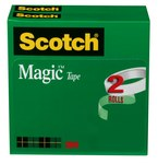 3M Scotch 810-2P12-72 Magic Cinta de oficina Transparente - 1/2 pulg. Ancho x 2592 pulg. Longitud - 02020