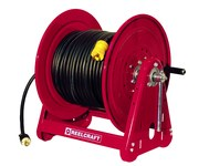 Reelcraft Industries Serie 30000 175 pies Rojo Acero Carrete de cable - longitud total 19.375 pulg. - Ancho 19 pulg. - Altura 20.25 pulg. - 00228