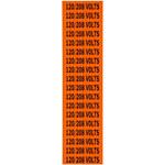 Brady 44359 Negro sobre naranja Rectángulo Paño de vinilo Marcador de conductos/voltaje - Altura 1/2 pulg. - B-498
