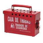 Brady Rojo Acero Caja de almacenamiento de seguridad combinado 65040 - Ancho 9 pulg. - Altura 6 pulg. - Capacidad de Candado 40 - 754476-65040