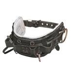 Miller 60NL Negro Nailon Fijo Cinturón para cuerpo - Ancho 4 pulg. - Tamaño de cintura 32 a 42 pulgadas - 612230-14281