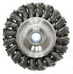 Weiler Acero Cepillo de rueda - Accesorio Eje - Agujero Central 1/2 a 3/8 pulgada - Diámetro de la cerda 0.02 pulg. - 08024