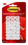 3M Command 17026-ES Plástico Presillas para decoración Blanco - 3/4 in Longitud x 1/2 in Ancho - 70523