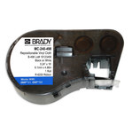 Brady MC-240-498 Negro sobre blanco Vinilo Cartucho de etiquetas para impresora de transferencia térmica continua - Ancho 0.24 pulg. - Longitud 16 pies - B-498