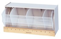 Quantum Storage Gris Plástico Apilable Gabinete Gaveta Inclinable - longitud total 5 1/4 pulg. - Ancho 11 7/8 pulg. - Altura 5 15/16 pulg. - Personalizado - 03511