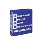 Brady Blanco sobre azul Carpeta de hojas de datos GHS y MSDS - OCCUPATIONAL SAFETY & HEALTH ADMINISTRATION INFORMATION - Inglés - 754476-45334