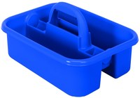 Quantum Storage Azul Bandeja de bañera - longitud total 13 7/8 pulg. - Ancho 18 3/8 pulg. - Altura 9 pulg. - 04571