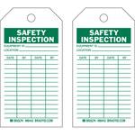 Brady 86442 Verde sobre blanco Poliéster/papel Etiqueta de inspección general - Ancho 3 pulg. - Altura 5 3/4 pulg. - B-837