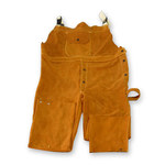 Chicago Protective Apparel Marrón Grande Cuero Overoles resistentes al calor - 618-CL LG