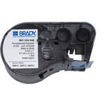 Brady MC-125-342 Negro sobre blanco Poliolefina Cartucho de etiquetas para impresora de transferencia térmica continua - Ancho 0.235 pulg. - Longitud 7 pies - B-342