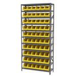 Akro-mils Amarillo Gris Acero 22 ga Sistema de estantería de bandeja de sistema - 10 gavetas - AS1279312 YELLOW