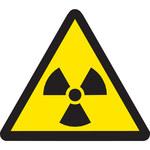 Brady 60196 Negro sobre amarillo Triángulo Vinilo Etiqueta de peligro de radiación - Ancho 1 pulg. - Altura 1 pulg. - B-946