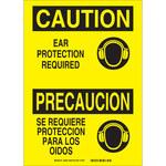 Brady B-401 Poliestireno Rectángulo Cartel de PPE Amarillo - Idioma Inglés/Español - 38938