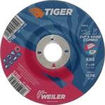 Weiler TIGER Óxido de aluminio Disco de corte y esmerilado - Diámetro 5 in - Agujero Central 7/8 in - Grosor 1/8 in - 57103