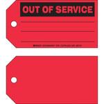 Brady 86751 Negro sobre rojo Cartulina Etiqueta de mantenimiento - Ancho 5 3/4 pulg. - Altura 3 pulg. - B-853