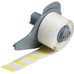 Brady M71-19-427-YL Transparente/Amarillo Vinilo Rollo de etiquetas para impresora de transferencia térmica troquelado - Altura 1 pulg. - B-427