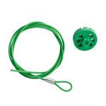 Brady Verde Cable de bloqueo 122255 - Longitud 59 pulg. - 754473-71198